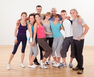 Group of friends posing at the gym Royalty Free Stock Images