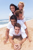 Group friends pyramid Stock Image