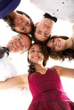 Group of friends ready to party Stock Image