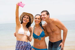 Group friends selfie Royalty Free Stock Photography