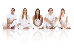 Group of friends sitting Royalty Free Stock Image