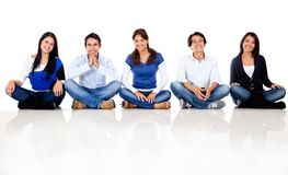 Group of friends sitting Stock Photography