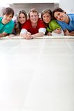 Group of friends smiling Stock Images