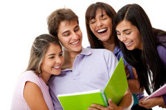 Group of friends smiling Royalty Free Stock Photos