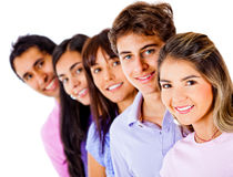 Group of friends smiling Stock Photo