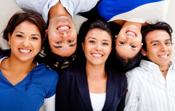 Group of friends smiling Royalty Free Stock Images