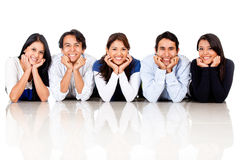 Group of friends smiling Stock Image