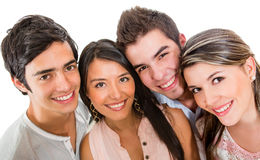 Group of friends smiling Royalty Free Stock Photography
