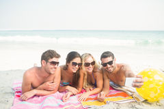 Group of friends in swimsuits Stock Photo