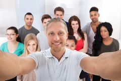 Group Of Friends Taking Selfie Stock Images
