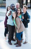 Group of Friends Taking a Selfie Stock Photography