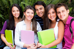 Group of friends at uni Stock Image