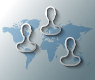 Group friends with world map Royalty Free Stock Photo