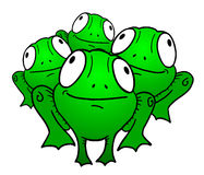 Group of the frog Stock Photography