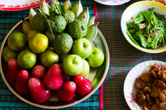 Group of fruit in ancestor respect Stock Images