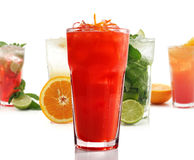 Group of Fruit Cocktail Stock Photography