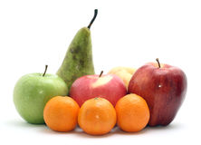 Group of fruits. Isolated on white Royalty Free Stock Photo