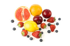 Group of fruits royalty free stock photos