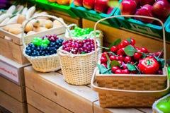 Group of fruits background Stock Photo