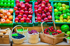 Group of fruits background Stock Image