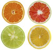 Group of fruits object isolated on white background stock image