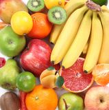 Group of fruits takes up the entire frame. royalty free stock photography