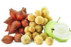 Group of fruits on white background Royalty Free Stock Photography