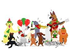 Group of Christmas animals Stock Photo