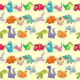 Group of funny dinosaurs with background. Stock Image
