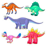 Group of funny dinosaurs Stock Photo