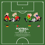 Group G Of 2014 Football (Soccer) Tournament. Group G Of 2014 Football (Soccer) Tournament Vector Illustration Stock Photos