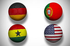 Group g footballs for world cup Stock Photography