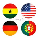 Group G -USA, Ghana, Germany, Portugal Royalty Free Stock Photography