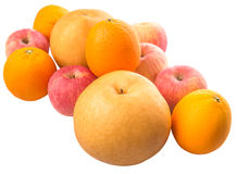 Group Of Gala Apples, Asian Pears And Orange II Stock Image