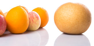 Group Of Gala Apples, Asian Pears And Orange IX Stock Images
