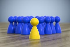 Group of game figures. 3d illustration of a group of game figures Stock Photo
