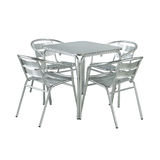 Group of garden furniture. Isolated on a white Stock Photos