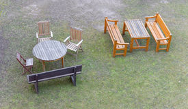 Group of garden furniture royalty free stock photo