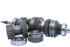 Group of gear part Royalty Free Stock Images