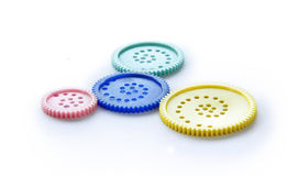 Group of Gear Wheels Stock Images