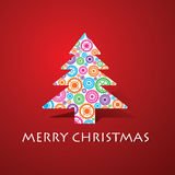 Group of gears make a christmas tree Royalty Free Stock Image
