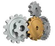 Group gears. Symbol leader in team work Royalty Free Stock Photos