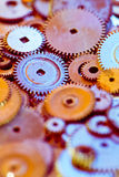 Group gears from watches Royalty Free Stock Images