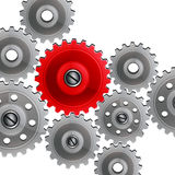 Group gears on white background. Royalty Free Stock Photos