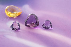 Group of gemstones. Royalty Free Stock Photos