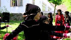 Group of Georgian children dancing stock video