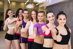 Group gesturing thumbs up Stock Photos