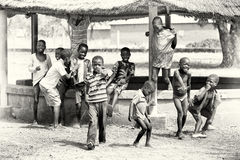 Group of Ghanaian children Royalty Free Stock Images
