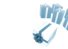 Group of gift box on white Stock Image