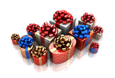Group of gift boxes Stock Images